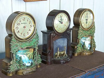 3 Mastercrafters clocks one Model 272 fireplace,two model 344 waterfalls   PARTS