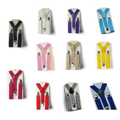 Toddler & Boys Girls Clip on Adjustable Braces Suspenders 2-8 years *UK Seller*