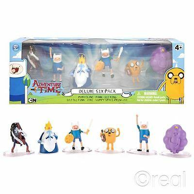 "Neu Adventure Time Luxus 6 Actionfigur Pack 2"" Finn Jake Marceline Offiziell"