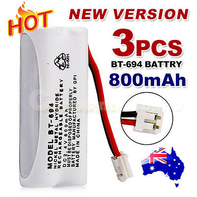 3x 800mAh 2.4V Cordless Phone for Uniden Battery BT-694 BT-694S Ni-MH