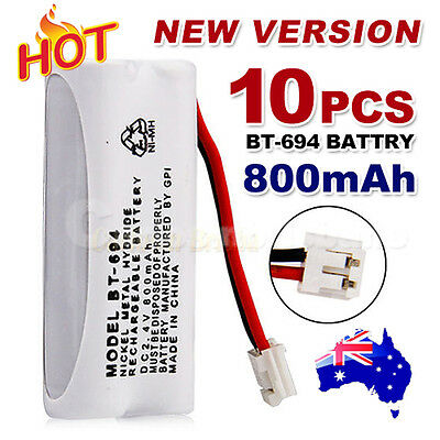 10x 800mAh 2.4V Cordless Phone for Uniden Battery BT-694 BT-694S Ni-MH