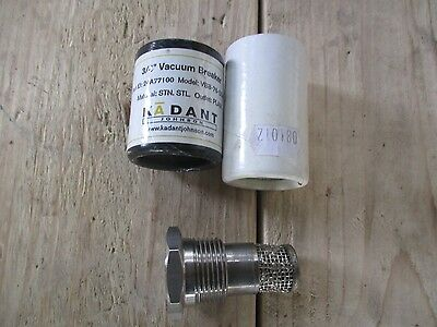 Kadant Johnson Stainless steel 24A77100 Vacuum Valve/ Breaker VB8-SS-PSE