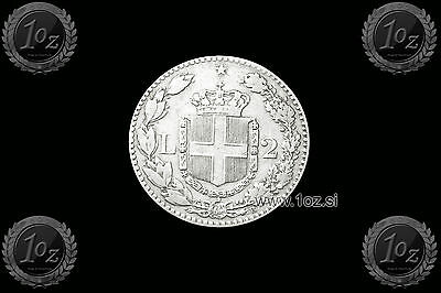 ITALY 2 LIRE 1887 R (UMBERTO I) SILVER coin (KM# 23) VF+