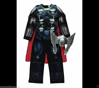NO MASK - George Marvel Avengers Thor Fancy Dress Outfit Dressing Up Costume 5-6