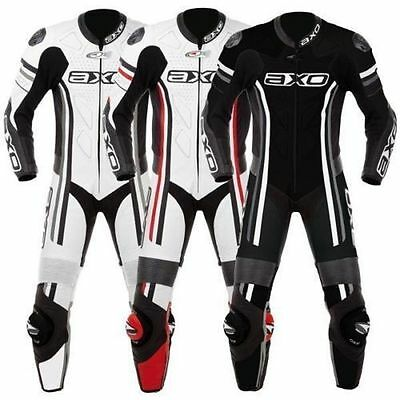Axo Motorbike/Motorcycle Racing Real Leather 1&2 Piece Suit/Jacket-Trouser