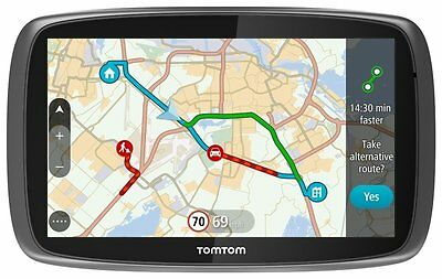 "TomTom GO 6100 6"" World Maps Sat Nav with Sim Card and Unlimited Data Included"