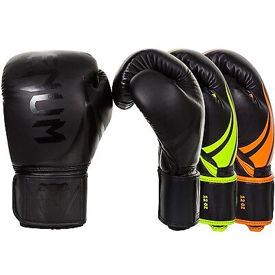 Venum Boxing Gloves Neon Challenger 2.0 Sparring Muay Thai MMA Kickboxing 8-16oz