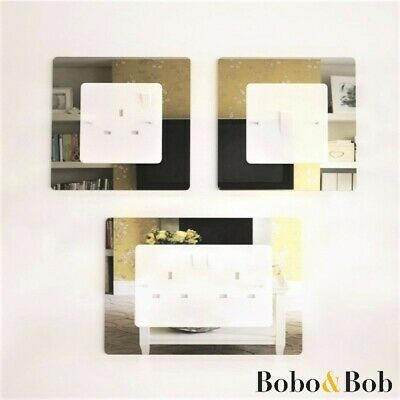 Single Double Mirror Acrylic Socket Surround, Light Switch, Plug, Finger Plate