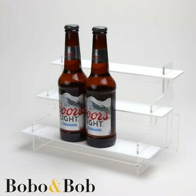 Beer or Alcopop Bottle Display Stand, Soft Drinks, Cider, Bar, Black Shelves