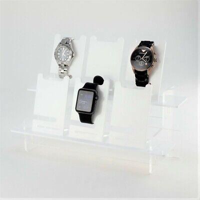 Watch Display Set, Tiered Stand & Watch Stands, Collection, Retail, Acrylic