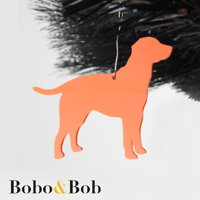 Set of 5 Acrylic Labrador Dog Christmas Tree Decorations - Baubles Ornaments