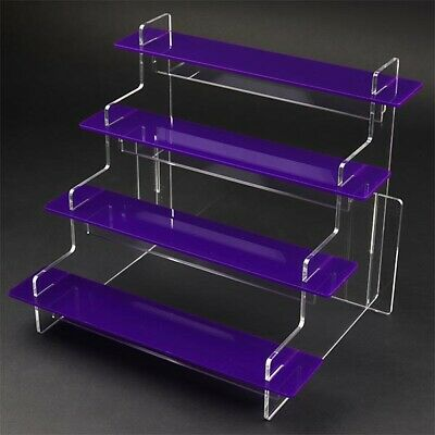 4 Tier  - 295mm Wide Slimline Acrylic Display Stand, Collectibles, Mini Bottles