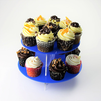 2 Tier Large Round Acrylic Cupcake Stand in 57 Colours - Baking Party Birthday