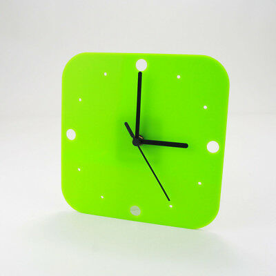 Small Square Wall Clock, Dots Detail, Living Room, Dining, Kitchen, Office
