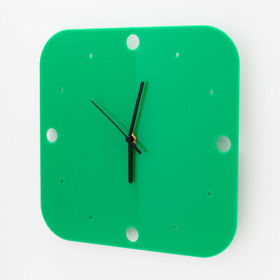 Large Square Wall Clock, Dots Detail, Living Room, Dining, Kitchen, Office