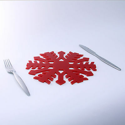 Snowflake Placemat, Christmas, 32 Colours, Tableware, Kitchen, Dining, Acrylic