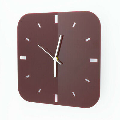 Large Square Wall Clock, Dashes, Living Room, Bedroom, Dining, Kitchen, Acrylic