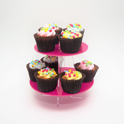 4 Tier Acrylic Cupcake Stand, Wedding, Birthday, Christening, Party, 37 Colours