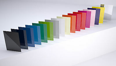 Acrylic Panels, 3mm, Cut to Size Sheets, Perspex/Altuglas, 37 Colour Options