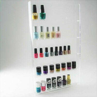 Shellac Gel Nail Polish Display Stand, Varnish, Wall Mounted, Acrylic, 5 Tiers