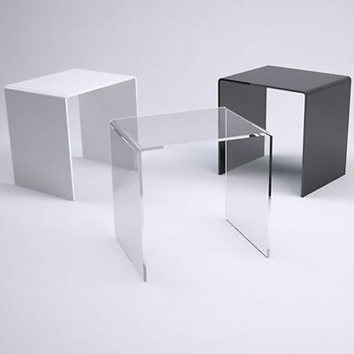 Large Acrylic Side Table Bedside Coffee