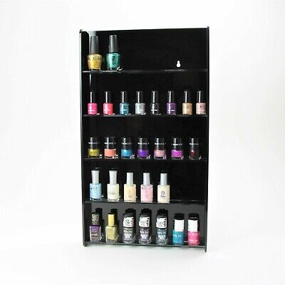 Acrylic Nail Polish Display Stand, Wall Mounted, Shellac, Gel, 4 Colours