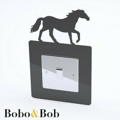 Horse Switch Surround, Pony, Equestrian, Bedroom, Tack Room, 39 Colours