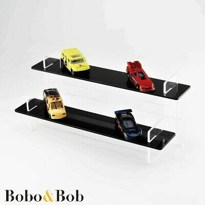 2 Tier - 295mm Wide Slimline Acrylic Display Stand, Figures, Cars, Lego, Bottles