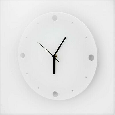 Large Acrylic Round Clock, Dots Face Detail, Living Room, Bedroom, 41 Colours