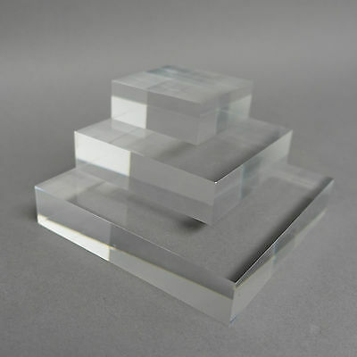 Clear, Frosted & Colour Acrylic Display Blocks Retail Jewellery/Watch Display
