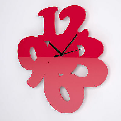 Big Number Acrylic Wall Clock, Bedroom, Kitchen, Living Room, 41 Colours