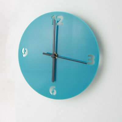 Small Acrylic Round Clock, Numbers Face Detail, Living Room, Bedroom, 41 Colours