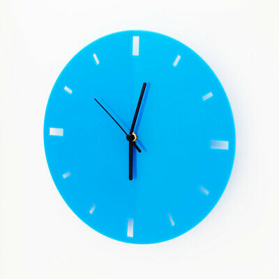 Large Acrylic Round Clock, Dashes Face Detail, Living Room, Bedroom, 41 Colours