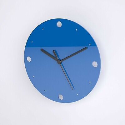Small Round Wall Clock, Dots Detail, Living Room, Dining, Kitchen, Office