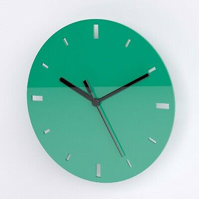 Small Round Wall Clock with Dashes Face Detail - Living Room Office Kitchen