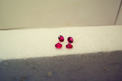 lab created 4 beautiful stunning clean ruby 5.5 mm round carat 3.00 gemstone