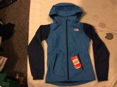 The North Face blue navy Women's Hooded Waterproof Jacket s nwt