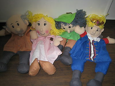 4 hand puppets robin hood maid marion early learning centre