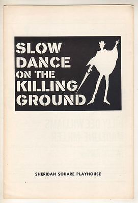 """Billy Dee Williams  """"Slow Dance on the Killing Ground""""  Playbill  1970  Off-Bway"""