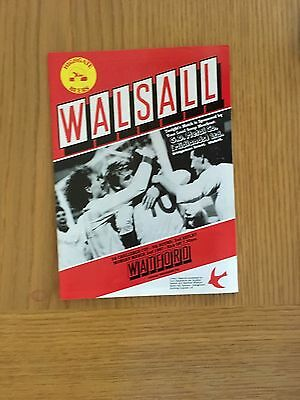 Walsall v Watford 2.3.1987 FA. Cup 2nd replay