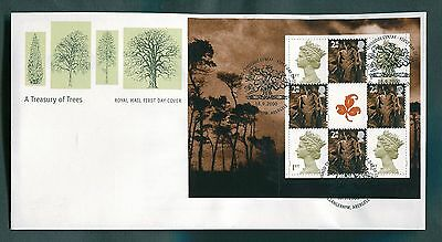 2000 Treasury of Trees 5 x Prestige Booklet Pane Covers
