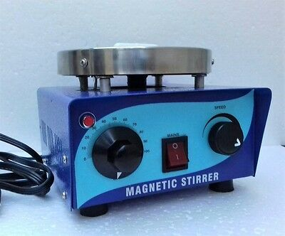 110v or 220v Magnetic Stirrer Hot Plate w/ 50mm Stir Bar & Working Manual