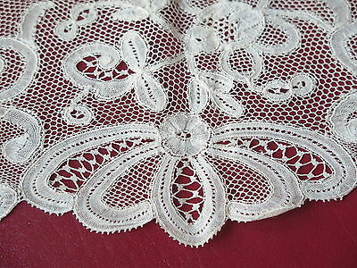 Vtg Antique Flanders Wide Handmade Lace Trim 19th Century Beautiful!