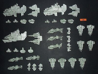 Warhammer Battlefleet Gothic BFG Metal SPACE ORK PIRATE FLEET FROM 2002 CAT.