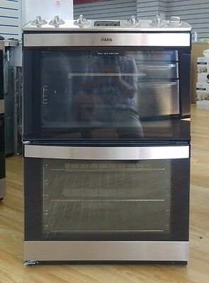 AEG 17166GT-Mn 60cm A Rated Double Oven Gas Cooker - Stainless Steel (1679)