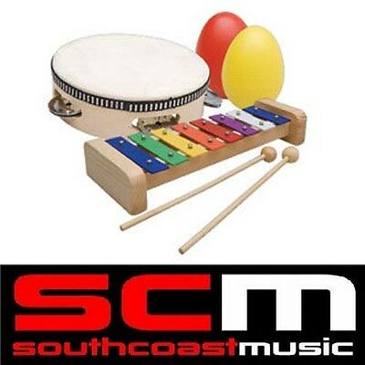 NEW PERCUSSION SET PSET2 by ASHTON! GREAT FOR KIDS! TAMBOURINE SHAKERS XYLOPHONE