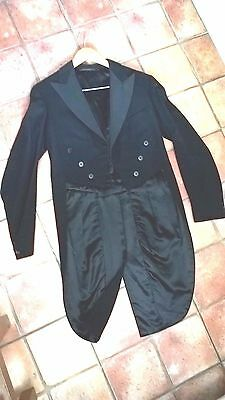Boy's vintage black wool tailcoat,  excellent condition