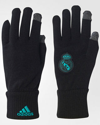 Adidas Real Madrid Handschuhe Winter-Mode gloves Touchscreen Unisex schwarz
