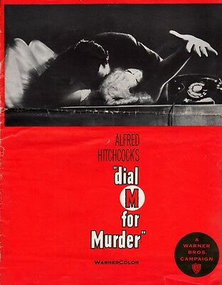 DIAL M FOR MURDER pressbook, Grace Kelly, Ray Milland, HITCHCOCK 3D copy 2
