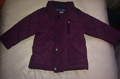 Next Purple Quilted Jacket Age 9-12 Months
